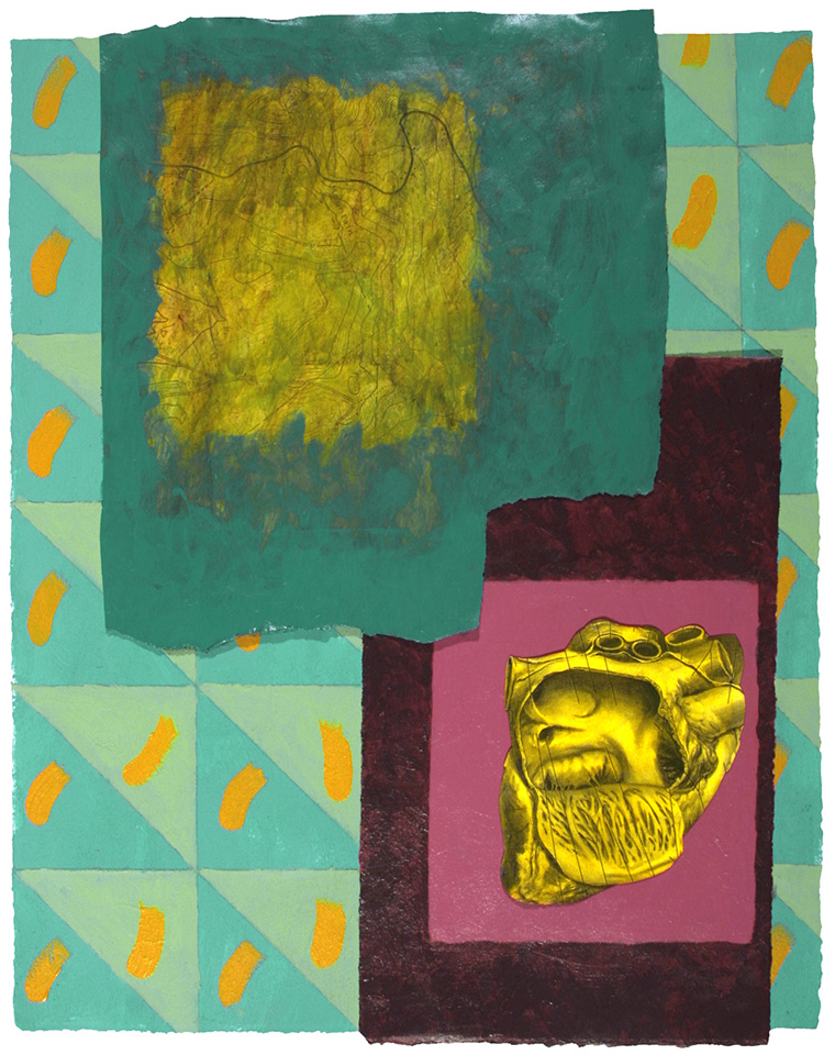 """Location Shrine III - 15"""" x 12"""", Mixed Media, Acrylic on Paper"""